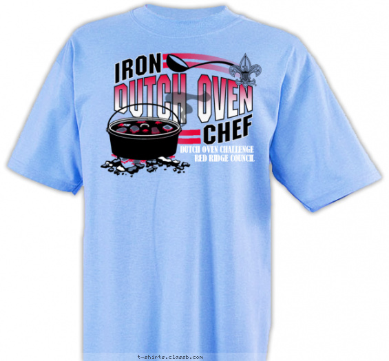 boyscoutcookingthemedcamp t-shirt design with 3 ink colors - #SP1632