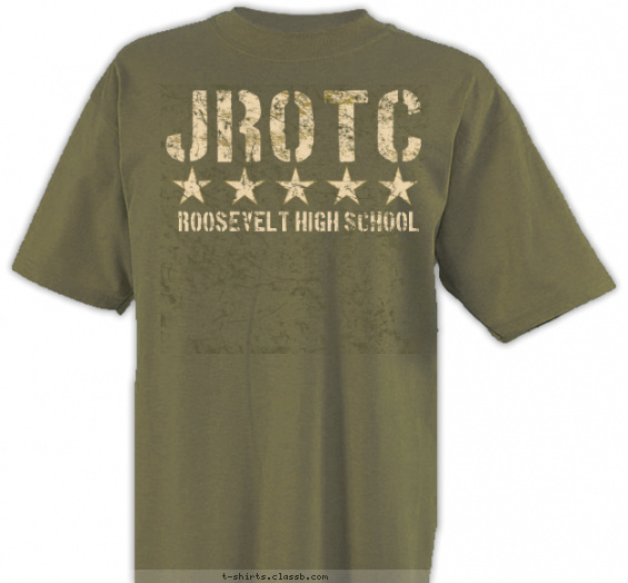 jrotc t-shirt design with 2 ink colors - #SP1702