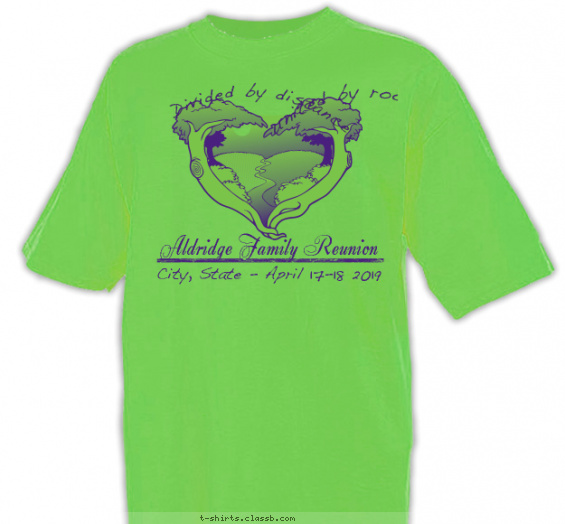 reunion t-shirt design with 1 ink color - #SP2135