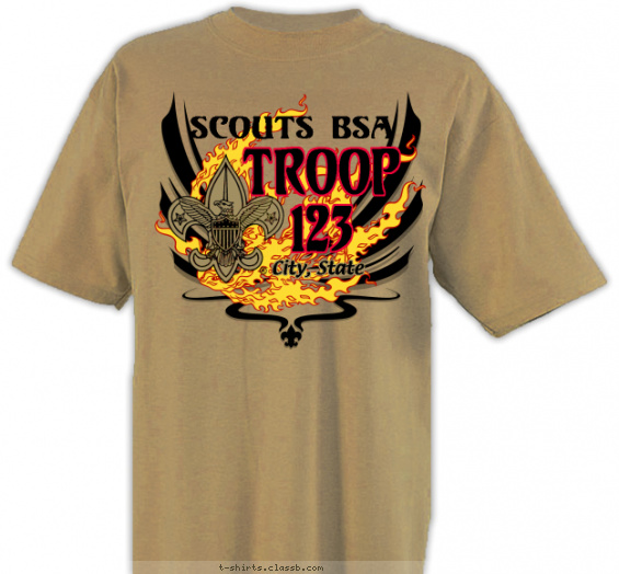 troop t-shirt design with 3 ink colors - #SP2149
