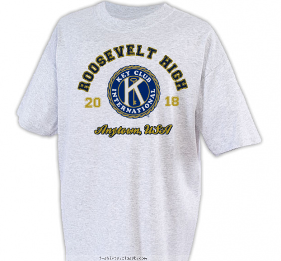 key-club-t-shirts t-shirt design with 2 ink colors - #SP2267