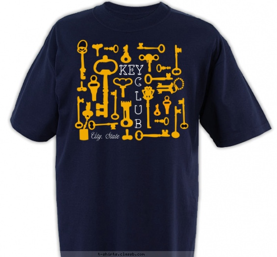 key-club-t-shirts t-shirt design with 2 ink colors - #SP2270