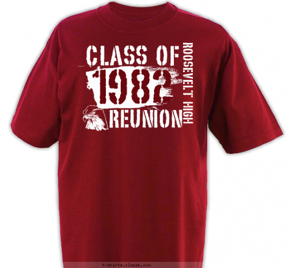 class-reunions t-shirt design with 1 ink color - #SP2419