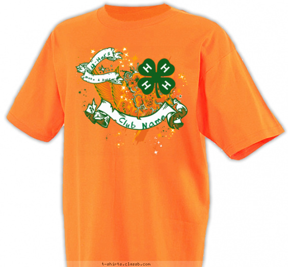 clubs t-shirt design with 3 ink colors - #SP2710