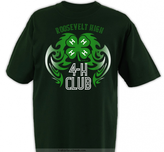 clubs t-shirt design with 3 ink colors - #SP2722