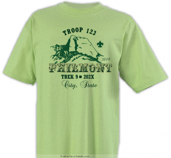 philmont t-shirt design with 1 ink color - #SP2735