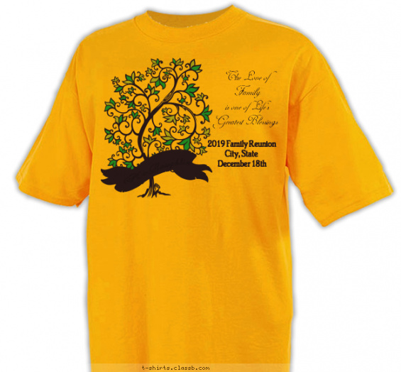 reunion t-shirt design with 2 ink colors - #SP2741