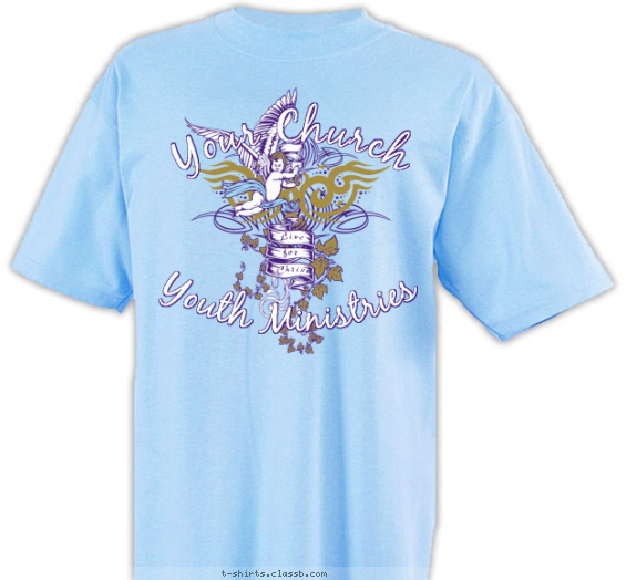 church-youth-group t-shirt design with 3 ink colors - #SP3171