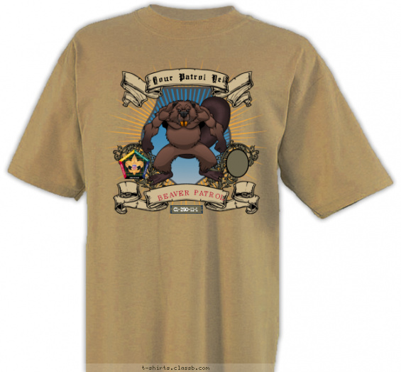 woodbadge t-shirt design with 3 ink colors - #SP3247