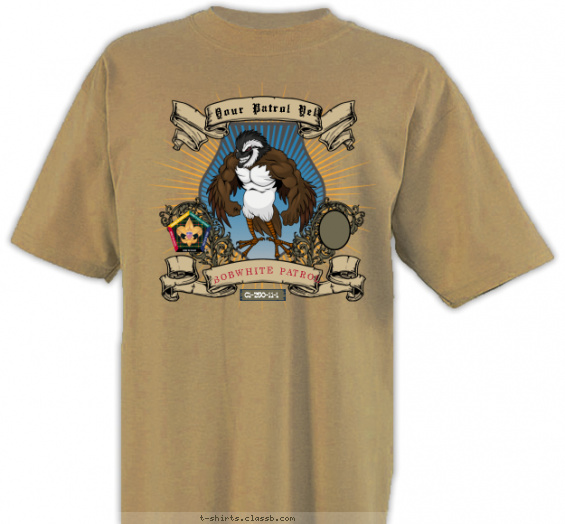 woodbadge t-shirt design with 3 ink colors - #SP3250