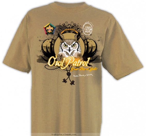 woodbadge t-shirt design with 3 ink colors - #SP3254