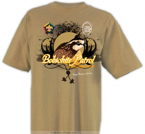 woodbadge t-shirt design with 3 ink colors - #SP3256