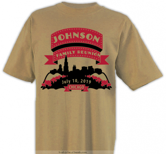 reunion t-shirt design with 2 ink colors - #SP3628
