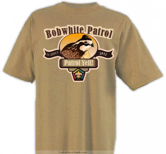 woodbadge t-shirt design with 6 ink colors - #SP3700