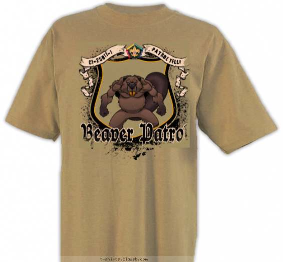 woodbadge t-shirt design with 6 ink colors - #SP3718