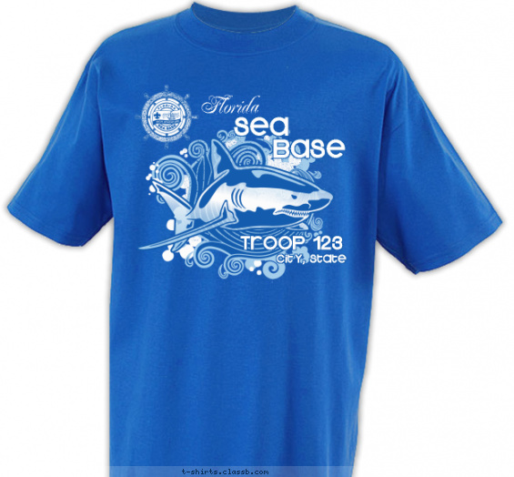 seabase t-shirt design with 2 ink colors - #SP3770