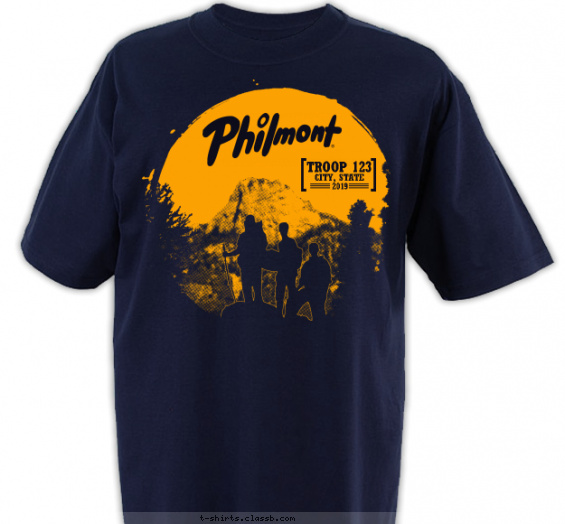 philmont t-shirt design with 1 ink color - #SP3787
