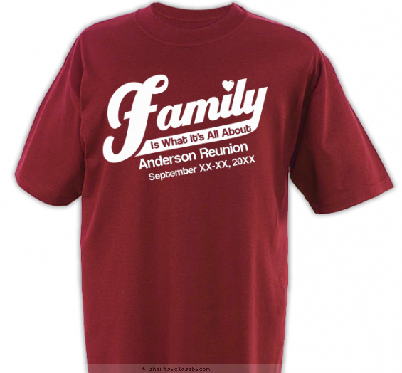 reunion t-shirt design with 1 ink color - #SP379