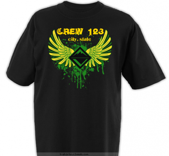 crew t-shirt design with 2 ink colors - #SP3893