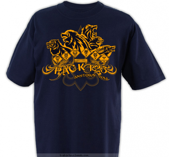 pack t-shirt design with 1 ink color - #SP4300