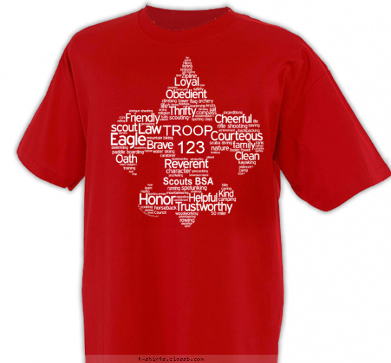 troop t-shirt design with 1 ink color - #SP4354