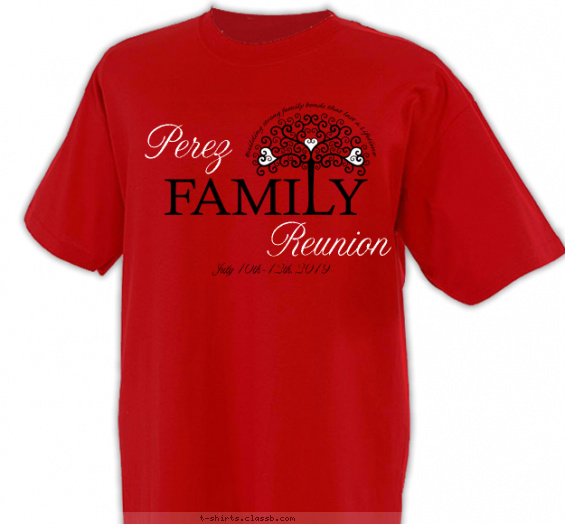 reunion t-shirt design with 2 ink colors - #SP4357