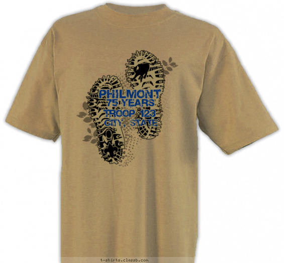 philmont t-shirt design with 2 ink colors - #SP4378