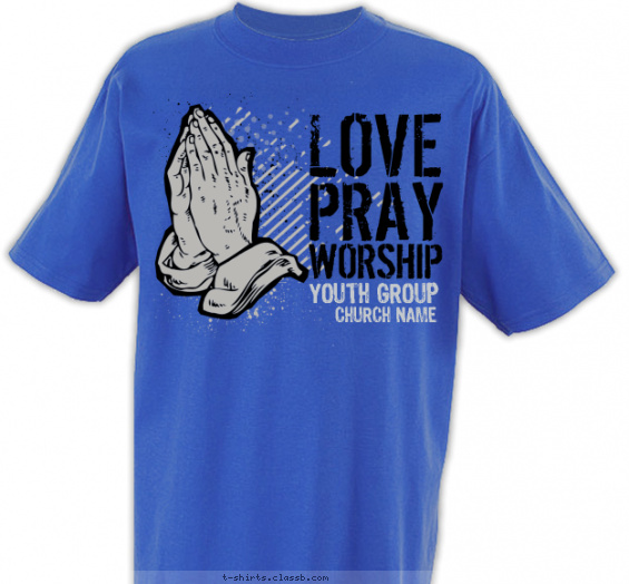 church-youth-group t-shirt design with 2 ink colors - #SP4588