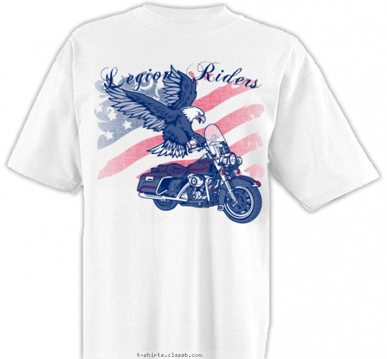 legion-riders t-shirt design with 2 ink colors - #SP4739