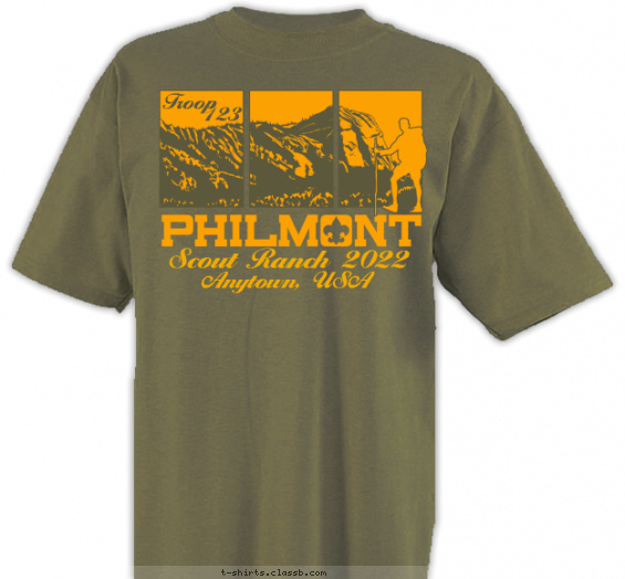 philmont t-shirt design with 2 ink colors - #SP4775