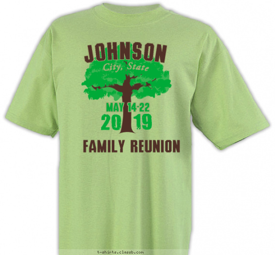 reunion t-shirt design with 2 ink colors - #SP4969
