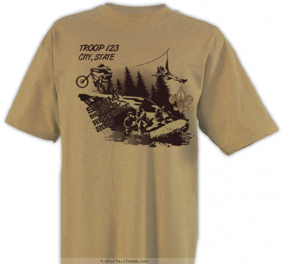summit t-shirt design with 1 ink color - #SP5136