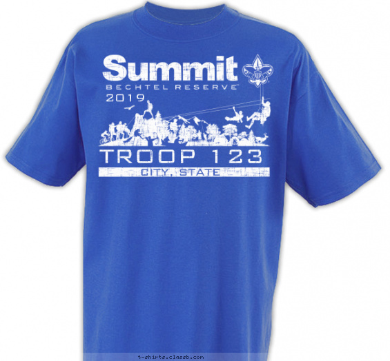 summit t-shirt design with 1 ink color - #SP5145