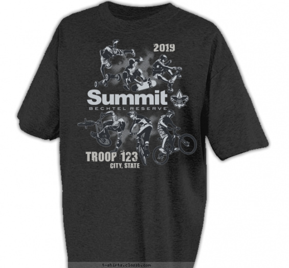 summit t-shirt design with 1 ink color - #SP5157