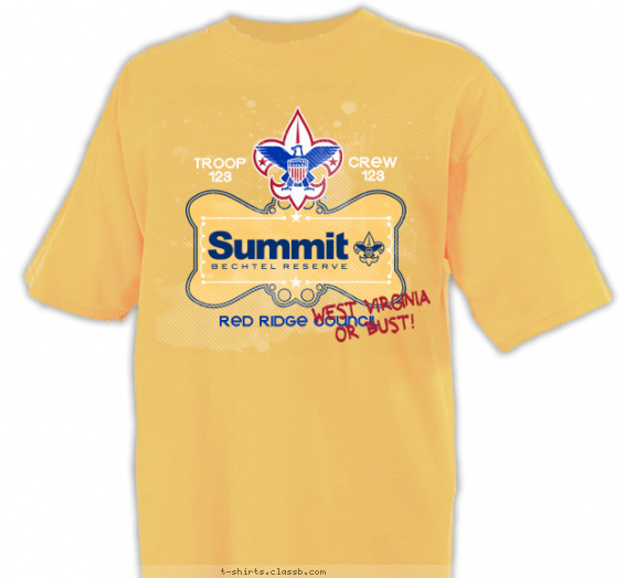 summit t-shirt design with 3 ink colors - #SP5158