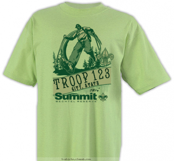 summit t-shirt design with 1 ink color - #SP5164