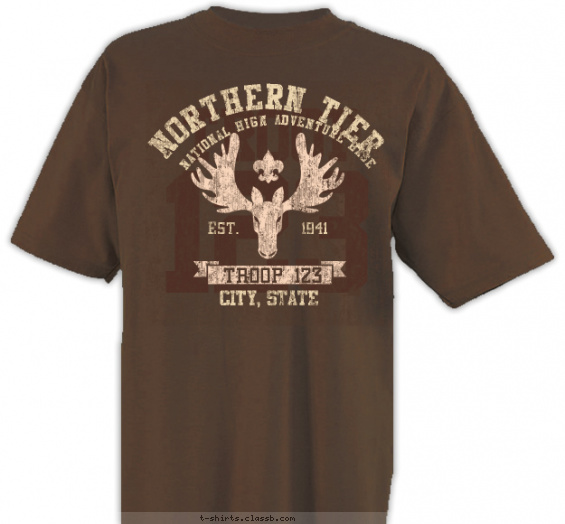 northerntier t-shirt design with 2 ink colors - #SP5316