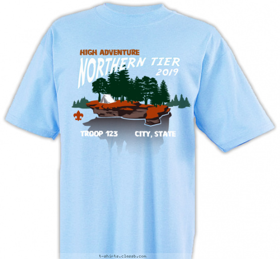 northerntier t-shirt design with 4 ink colors - #SP5356