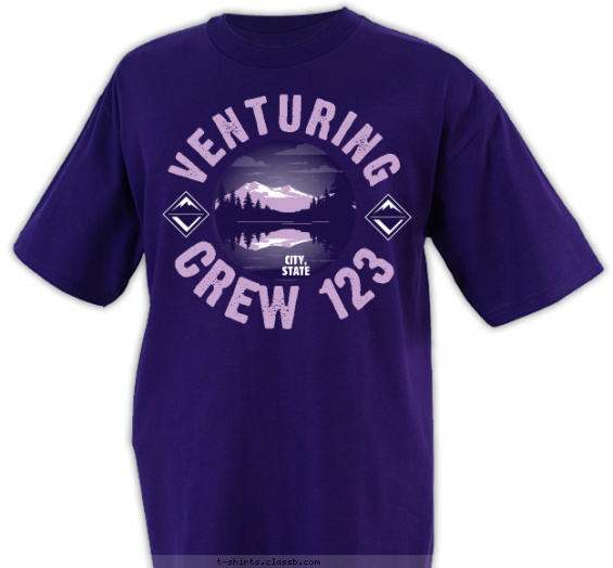 crew t-shirt design with 2 ink colors - #SP5477