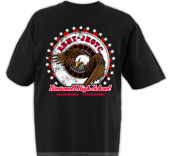 jrotc t-shirt design with 5 ink colors - #SP5506