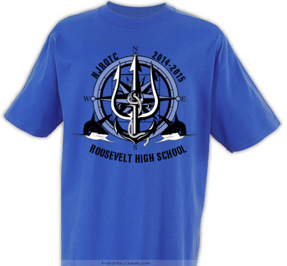 jrotc t-shirt design with 2 ink colors - #SP5512