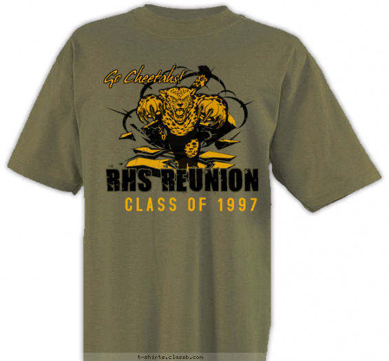 class-reunions t-shirt design with 2 ink colors - #SP5856