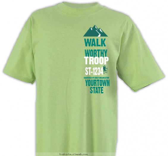 trail-life-usa t-shirt design with 2 ink colors - #SP5904