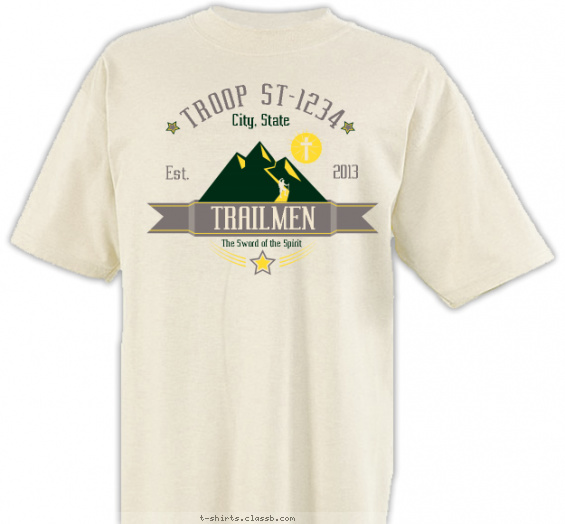 trail-life-usa t-shirt design with 3 ink colors - #SP6336