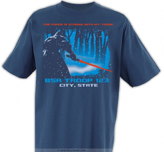 troop t-shirt design with 3 ink colors - #SP6439