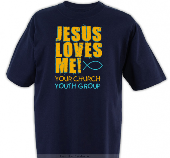 church-youth-group t-shirt design with 2 ink colors - #SP6471