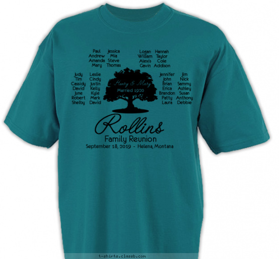 reunion t-shirt design with 1 ink color - #SP6586