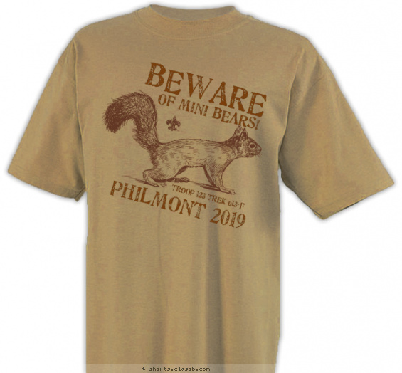 philmont t-shirt design with 1 ink color - #SP6616