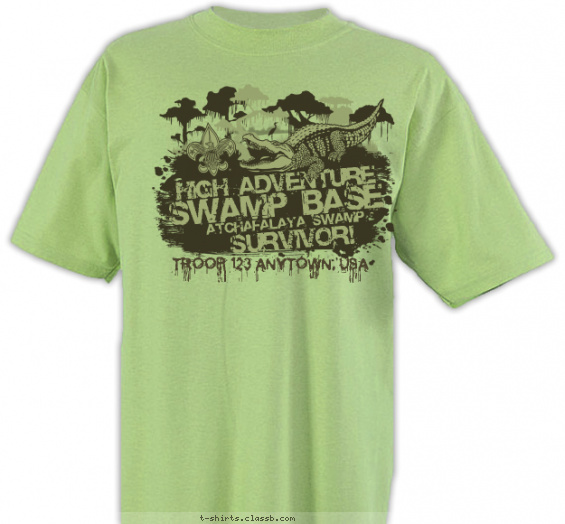 swamp-base t-shirt design with 1 ink color - #SP6665