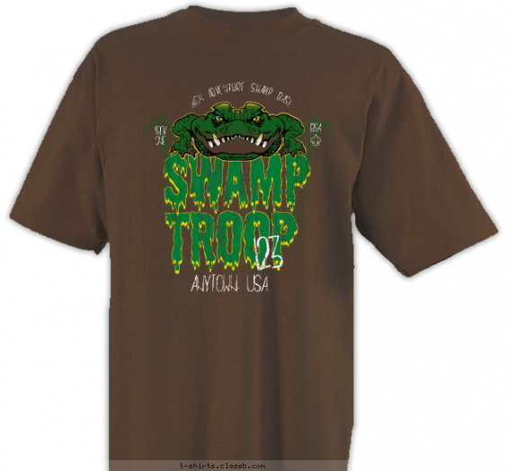swamp-base t-shirt design with 4 ink colors - #SP6666